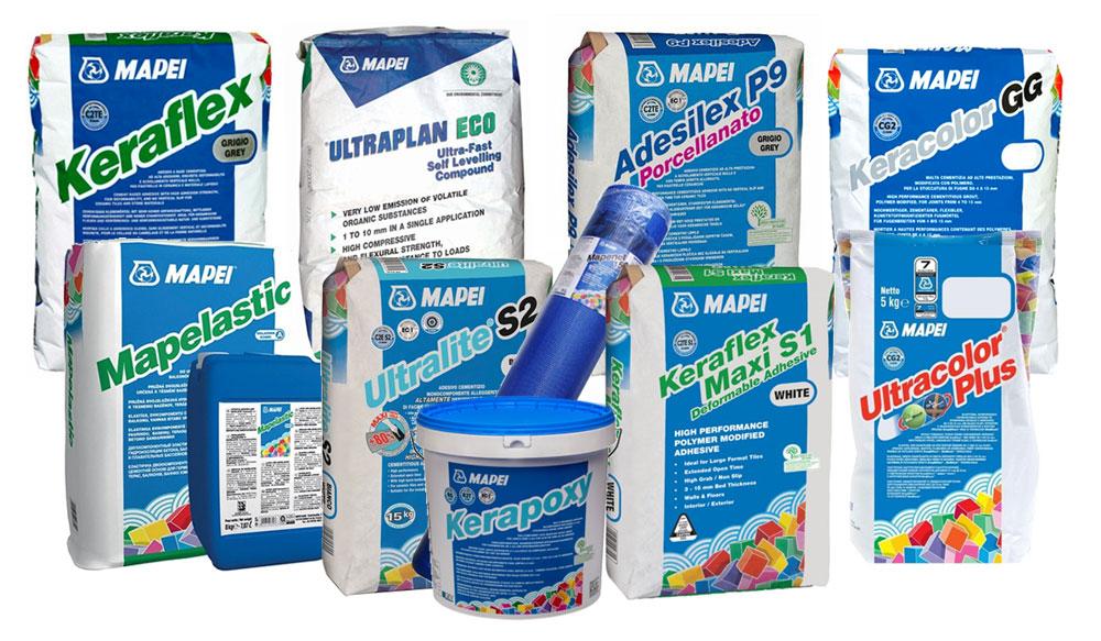 Productos MAPEI, proveedor de Nutersa
